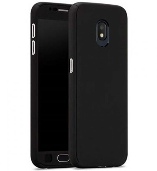 Husa Full Cover 360 + folie sticla Samsung Galaxy J7 (2017), Negru 0