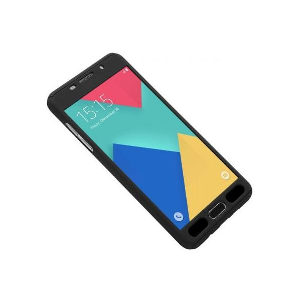 Husa Full Cover 360 + folie sticla Samsung Galaxy J7 Prime, Negru