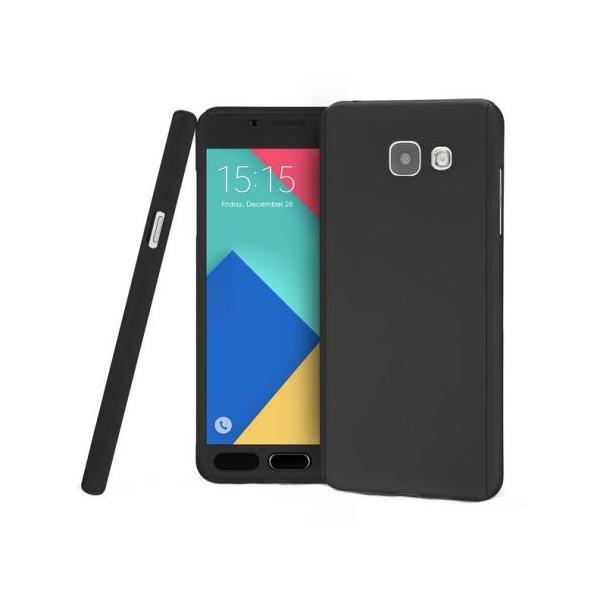 Husa Full Cover 360 + folie sticla Samsung Galaxy J7 Prime, Negru 0