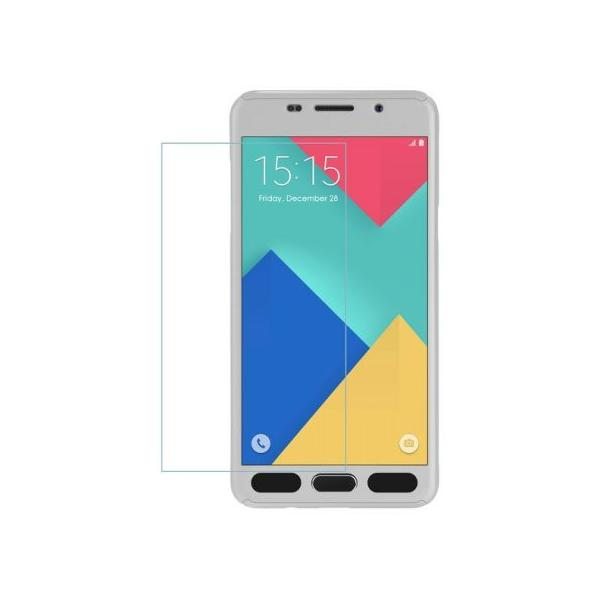 Husa Full Cover 360 + folie sticla Samsung Galaxy J7 Prime, Silver 2