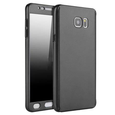 Husa Full Cover 360 + folie sticla Samsung Galaxy Note 5, Negru [0]