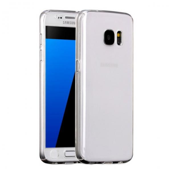 Husa Full Cover 360 + folie sticla Samsung Galaxy S6, Transparent [0]