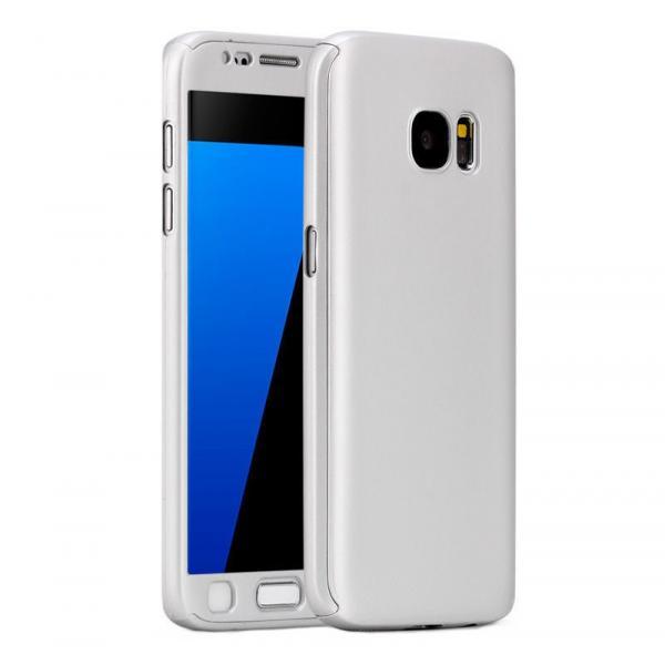 Husa Full Cover 360 + folie sticla Samsung Galaxy S7, Silver