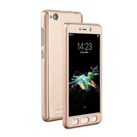 Husa Full Cover 360 + folie sticla Xiaomi Redmi 5A, Gold 0