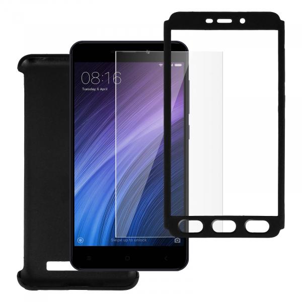 Husa Full Cover 360 + folie sticla Xiaomi Redmi 5A, Negru 2