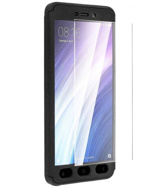 Husa Full Cover 360 + folie sticla Xiaomi Redmi 5A, Negru 0