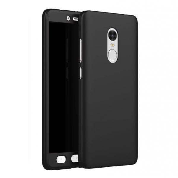 Husa Full Cover 360 + folie sticla Xiaomi Redmi Note 4, Negru 0