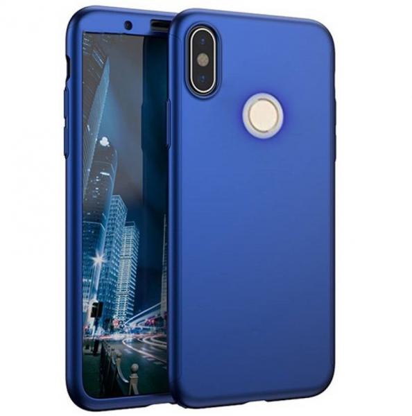 Husa Full Cover 360 + folie sticla Xiaomi Redmi Note 5, Albastru 0