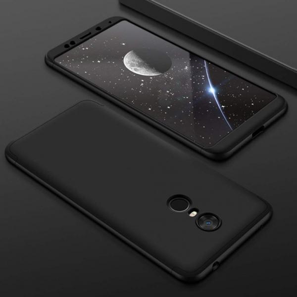 Husa Full Cover 360 + folie sticla Xiaomi Redmi 5 Plus, Negru 1