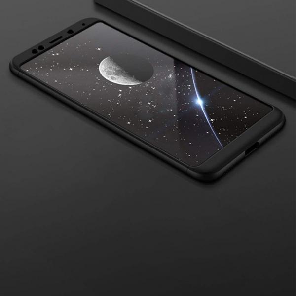Husa Full Cover 360 + folie sticla Xiaomi Redmi 5 Plus, Negru 2