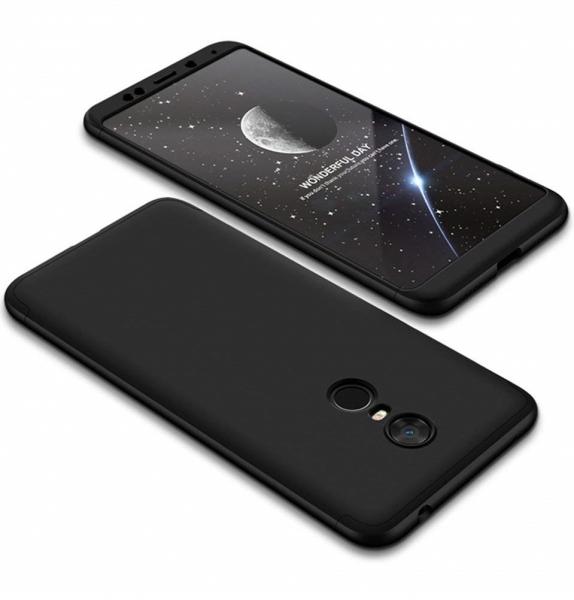 Husa Full Cover 360 + folie sticla Xiaomi Redmi 5 Plus, Negru 0