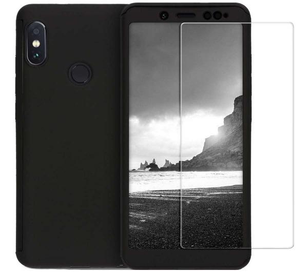 Husa Full Cover 360 + folie sticla Xiaomi Redmi Note 5, Negru [0]