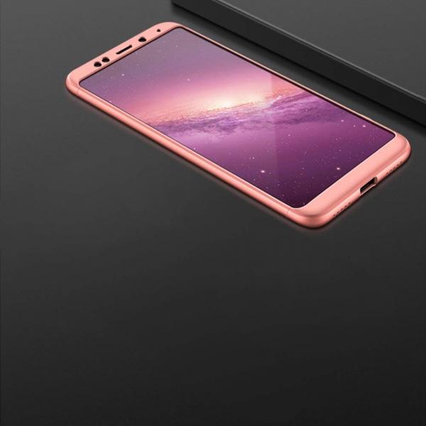 Husa Full Cover 360 + folie sticla Xiaomi Redmi 5 Plus, Rose Gold [2]