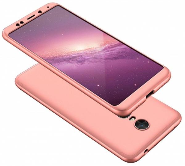 Husa Full Cover 360 + folie sticla Xiaomi Redmi 5 Plus, Rose Gold [0]