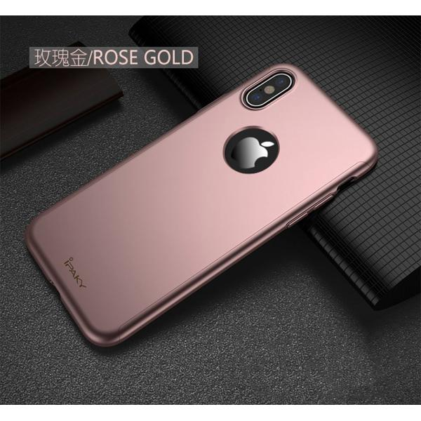 Husa Full Cover 360 iPhone X, Rose Gold