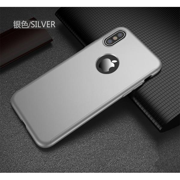 Husa Full Cover 360 iPhone X, Silver 1