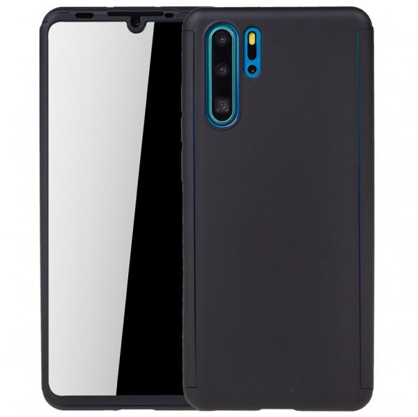 Husa Full Cover 360 pentru Huawei P30 Pro, Negru 0