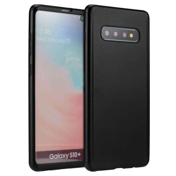 Husa Full Cover 360 pentru Samsung Galaxy S10+, Negru 0