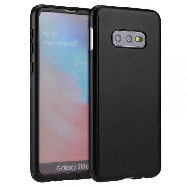 Husa Full Cover 360 pentru Samsung Galaxy S10e, Negru 0