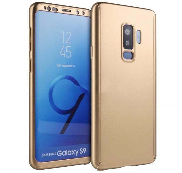 Husa Full Cover 360 pentru Samsung Galaxy S9, Gold 0