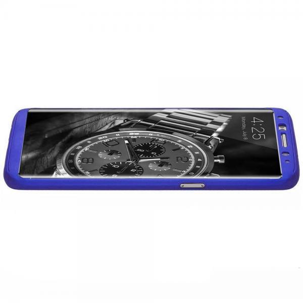Husa Full Cover 360 Samsung Galaxy S8, Albastru 3
