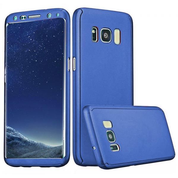Husa Full Cover 360 Samsung Galaxy S8 Plus, Albastru