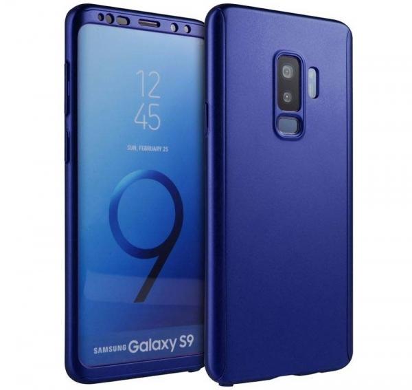 Husa Full Cover 360 Samsung Galaxy S9, Albastru 0