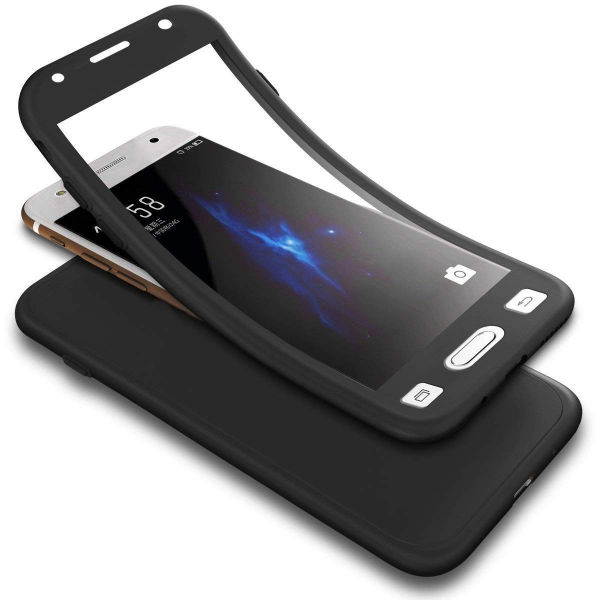 Husa Full Silicone 360 pentru Samsung Galaxy A3 (2017), Negru 1