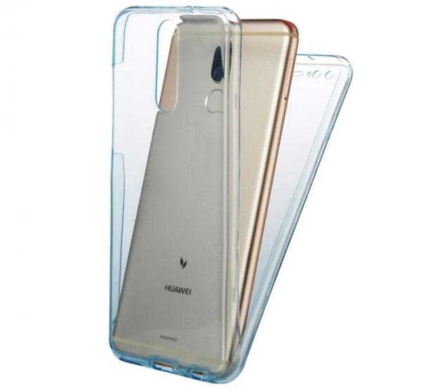 Husa Full TPU 360 fata spate Huawei Mate 10 Lite, Albastru Transparent 1