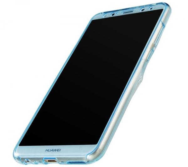 Husa Full TPU 360 fata spate Huawei Mate 10 Lite, Albastru Transparent 2