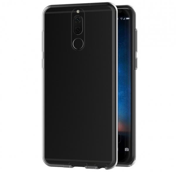 Husa Full TPU 360 fata + spate Huawei Mate 10 Lite, Gri Transparent 1