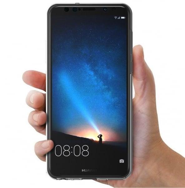 Husa Full TPU 360 fata + spate Huawei Mate 10 Lite, Gri Transparent 3