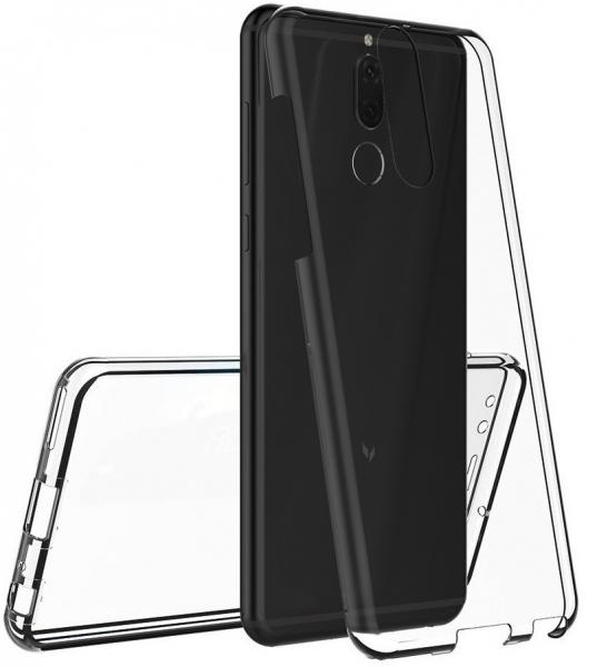 Husa Full TPU 360 fata + spate Huawei Mate 10 Lite, Gri Transparent 2