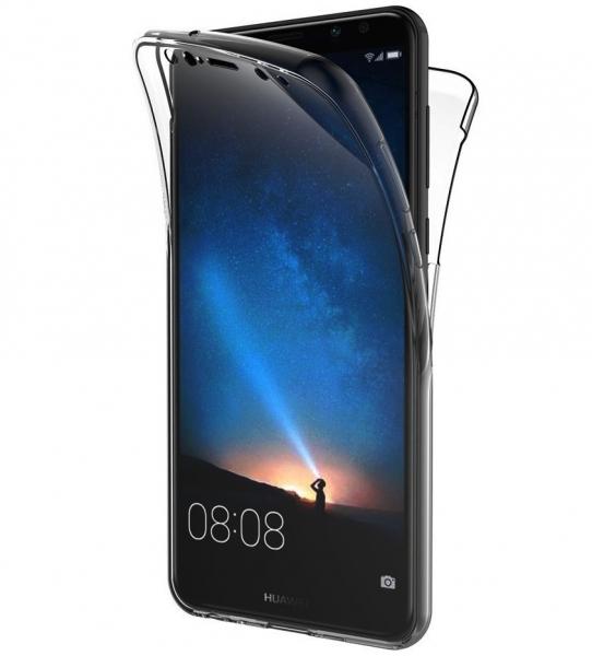 Husa Full TPU 360 fata + spate Huawei Mate 10 Lite, Gri Transparent 0