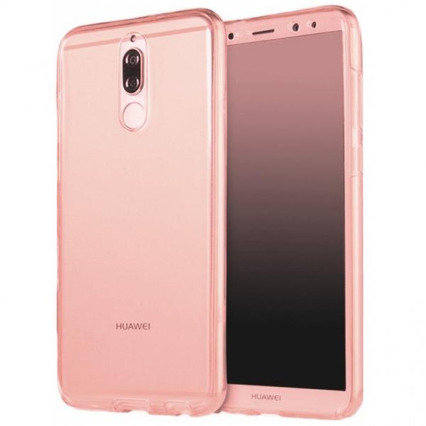 Husa Full TPU 360 fata + spate Huawei Mate 10 Lite, Rose Gold transparent 0