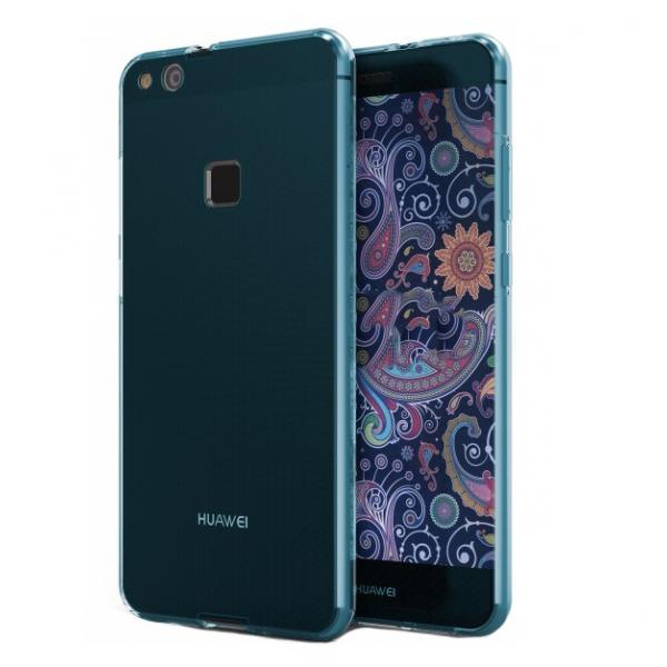 Husa Full TPU 360 (fata + spate) Huawei P10 Lite, Albastru Transparent 0