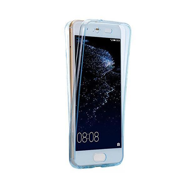 Husa Full TPU 360 (fata + spate) Huawei P10 Plus, Albastru Transparent 0