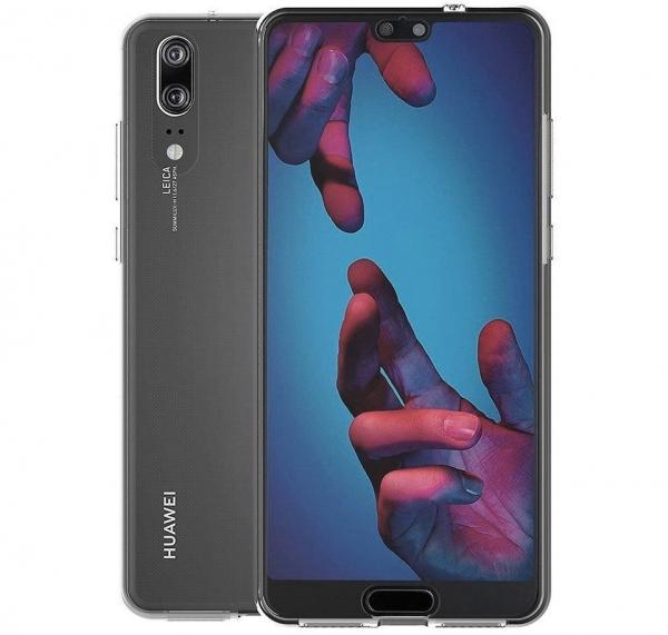 Husa Full TPU 360 fata + spate Huawei P20, Gri Transparent 1