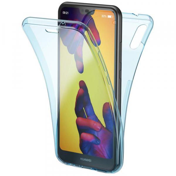 Husa Full TPU 360 fata + spate Huawei P20 Lite, Albastru transparent [0]