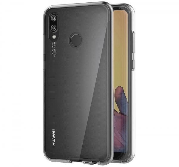 Husa Full TPU 360 fata + spate Huawei P20 Lite, Gri Transparent 2
