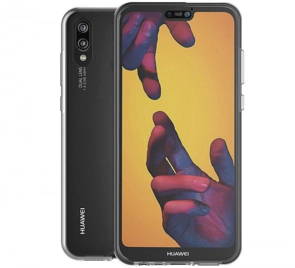 Husa Full TPU 360 fata + spate Huawei P20 Lite, Gri Transparent 1