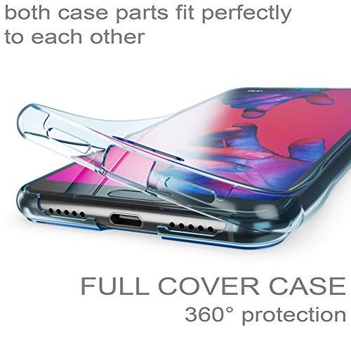 Husa Full TPU 360 fata + spate Huawei P20 Pro, Albastru transparent 1