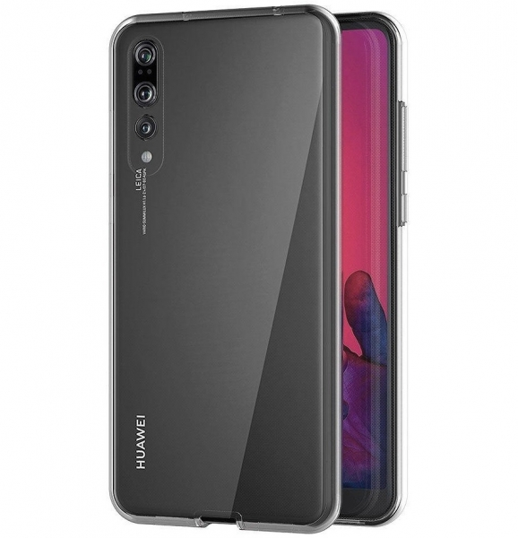 Husa Full TPU 360 fata + spate Huawei P20 Pro, Gri Transparent 2