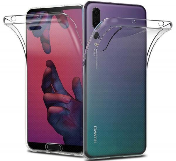Husa Full TPU 360 fata + spate Huawei P20 Pro, Gri Transparent [0]