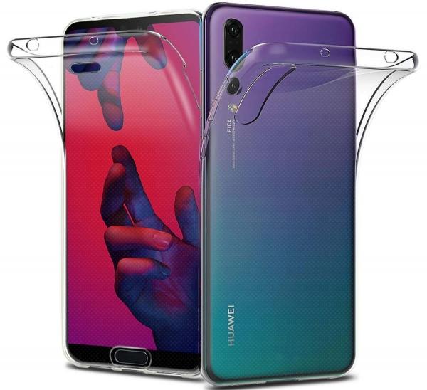 Husa Full TPU 360 fata + spate Huawei P20 Pro, Transparent 0
