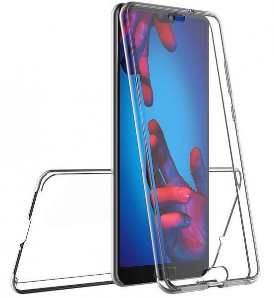 Husa Full TPU 360 fata + spate Huawei P20, Transparent 3