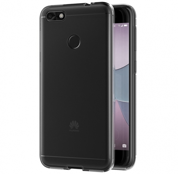 Husa Full TPU 360 fata spate Huawei P9 Lite Mini 2017, Gri transparent 2
