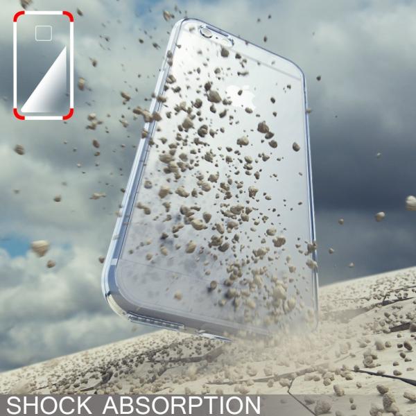 Husa Full TPU 360 fata + spate iPhone 6 / 6S, Albastru transparent 2