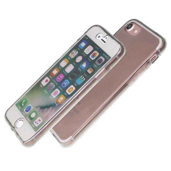 Husa Full TPU 360 (fata + spate) iPhone 8, Gri Transparent 1