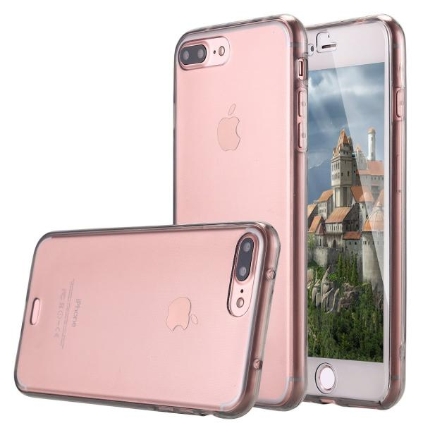 Husa Full TPU 360 (fata + spate) iPhone 8 Plus, Gri Transparent 1